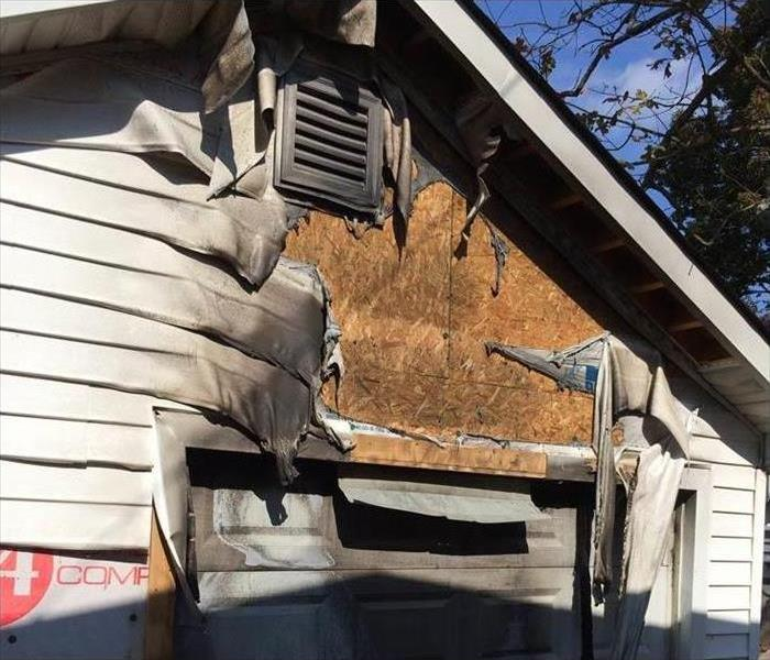 Fire Damage – Knoxville Garage Before