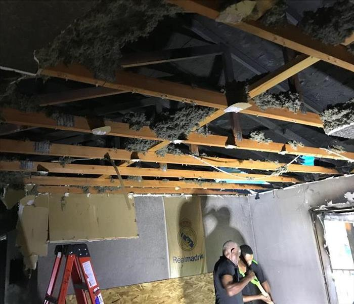 Rocky Hill Fire Damage Cleanup of Insulation