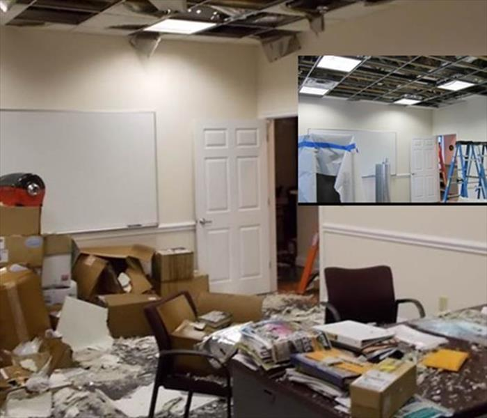Water Damage to a Knoxville Office