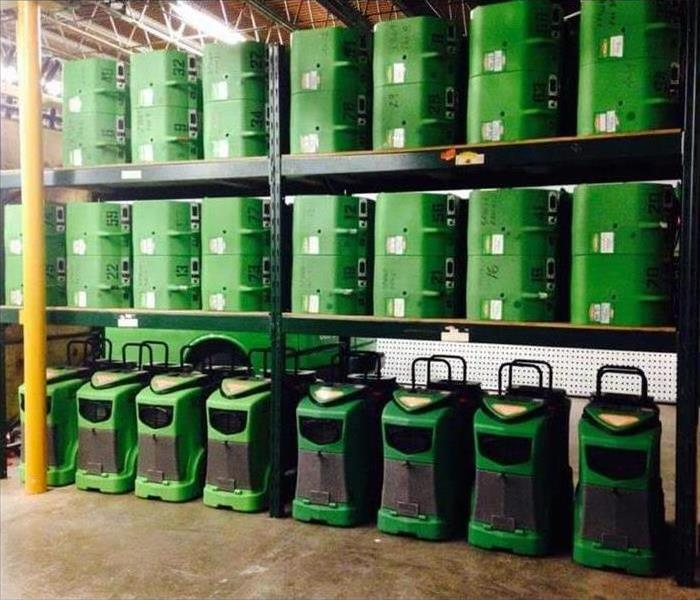 SERVPRO drying equipment